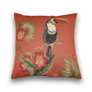 Toucan Tapestry Cushion, Terra (43x43cm)