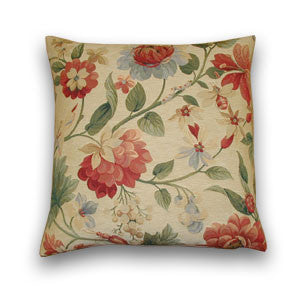 Flowers & Bees Tapestry Cushion (43x43cm)