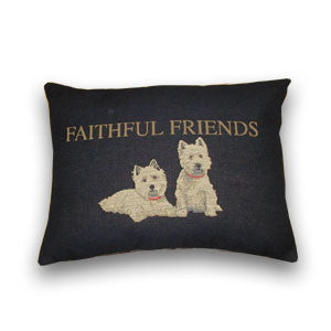 Faithful Friends Tapestry Cushion (47x32cm)