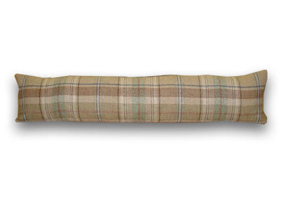 Wool Plaid Natural Draught Excluder (90x22cm)