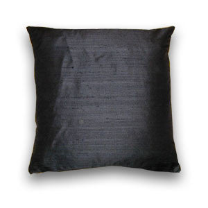 Black Silk Doupion Cushion (43x43cm)