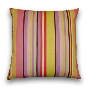 Jazz Stripe Large Cushion, Pink & Port