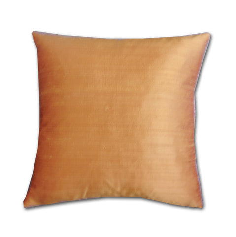 Pecan Silk Doupion Cushion (43x43cm)