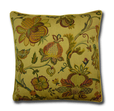 Jacobean Cushion, Green