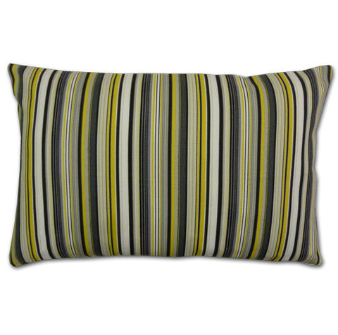 Strata Stripe Yellow Cushion (51x33cm)