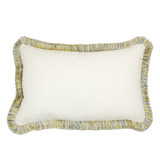 Tahiti White Blue Fringed (50cm x 30cm)