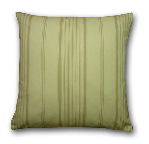 Vintage Wide Ticking Stripe Csh, Stone/Cream (43x43cm) WAS £12