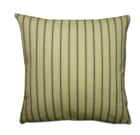 Vintage Fine Stripe Cushion, Sepia/Cream (43x43cm)