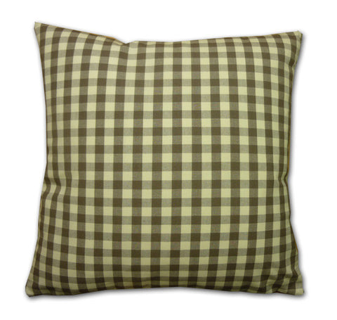 Vintage Gingham Cushion, Sepia/Cream (43x43cm)