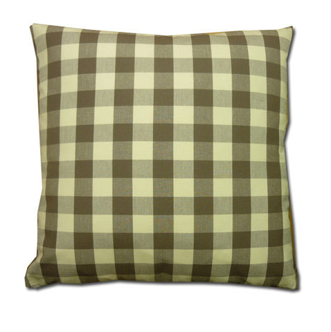 Vintage Check Cushion, Sepia/Cream (43x43cm)