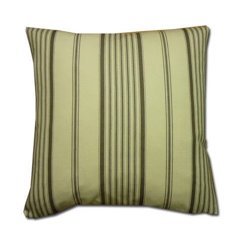 Vintage Wide Ticking Stripe Cushion, Sepia / Cream (43x43cm) WAS £12