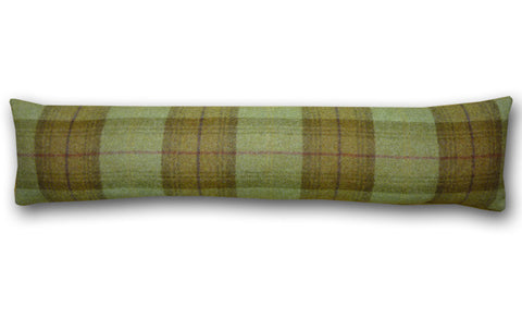 Woodford Plaid Loden & Olive Draught Excluder (90x20cm)