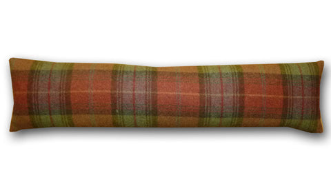 Woodford Plaid Brick & Wine Draught Excluder (90x20cm)