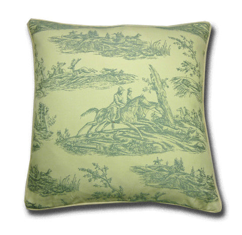 Blue Hunting Toile Cushion (44x44cm)