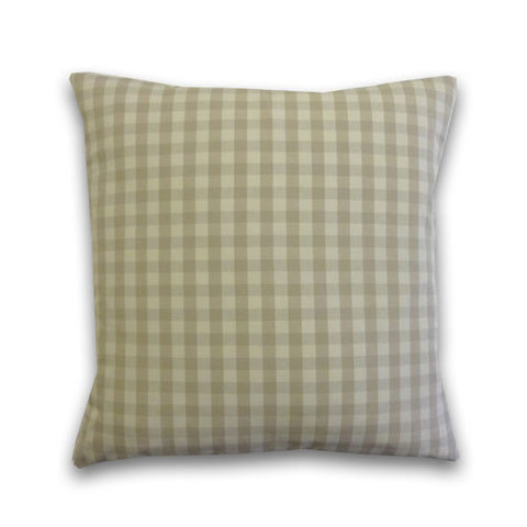 Vintage Gingham Cushion, Stone/Cream (43x43cm)