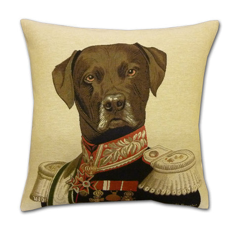 Commodore Labrador Tapestry Cushion (44x44cm)
