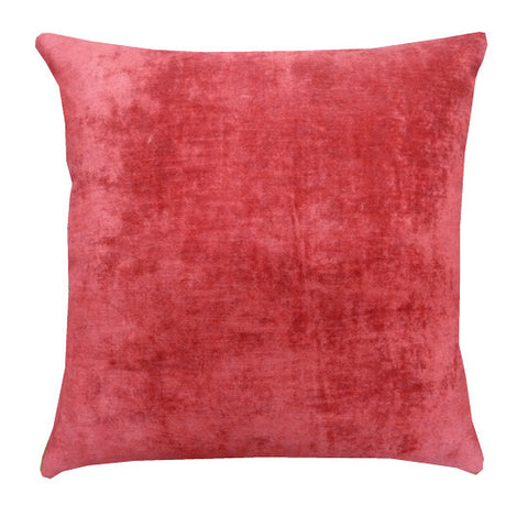 Shabby Chic Large Crushed Raspberry Velvet Cushion (50x50cm)