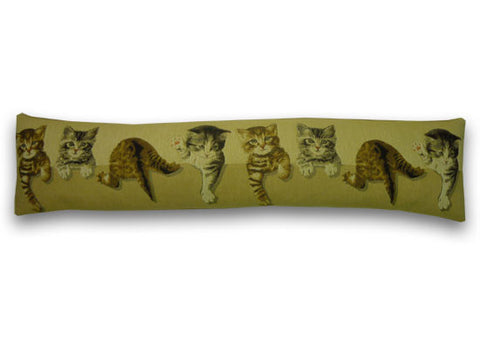 Tumbling Kittens Tapestry Draught Excluder (90x20cm)
