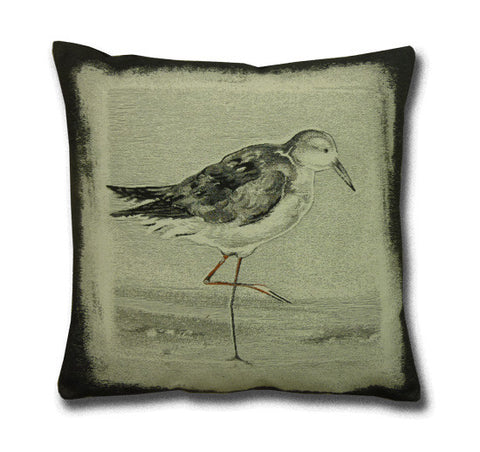 Sanderling Wading Bird Tapestry Cushion