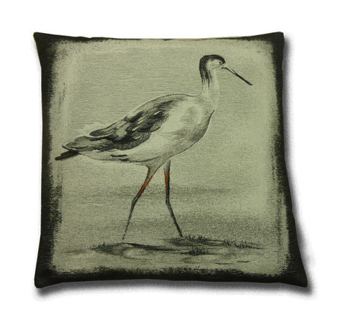 Curlew Bird Tapestry Cushion (43x43cm)