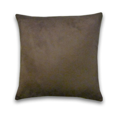 Faux Suede Cushion, Chocolate (44cm x 44cm)