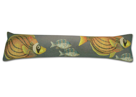 Fish Indigo Tapestry Draught Excluder (88x20cm)