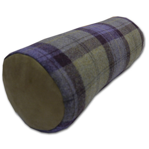 Blackberry Wool Plaid Bolster (45cm x 16cm)