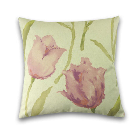 Tulip Print Cushion, Pink
