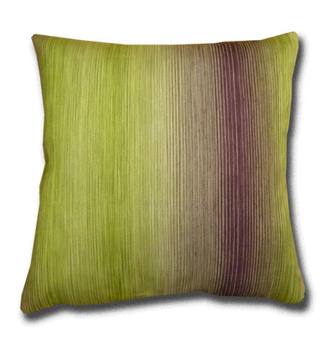 Hazan Fine Striped Green Cushion (44cm x 44cm)