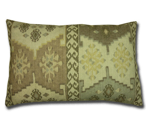 Talish Kilim Cushion, Neutral (58cm x 37cm)