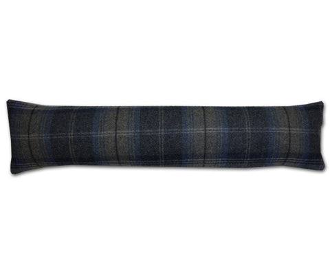 Woodford Plaid Indigo & Pebble Draught Excluder (90x20cm)