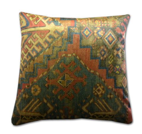 Velvet Kilim Design Cushion (44x44cm)
