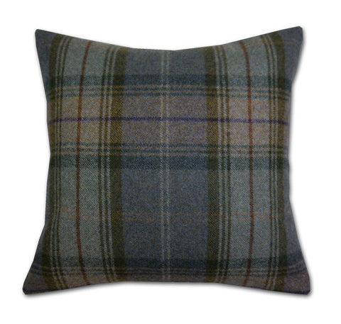 Woodford Plaid Thistle & Thyme Cushion (42x42cm)