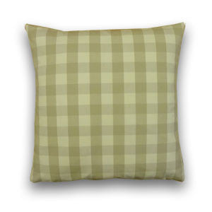Vintage Check Cushion, Stone/Cream (43x43cm)