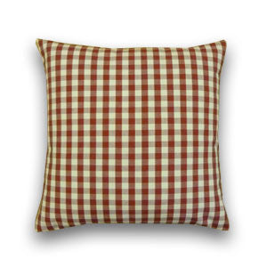 Vintage Gingham Cushion, Red/Cream (43x43cm)