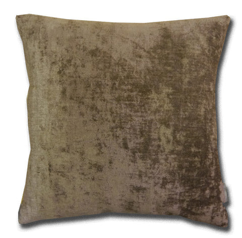 Shabby Chic Large Nutmeg Velvet Cushion (50x50cm)