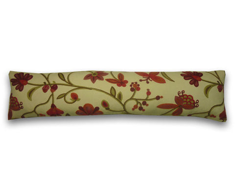 Neena Crewel Work Draught Excl., Red & Brown (90cm x 20cm)