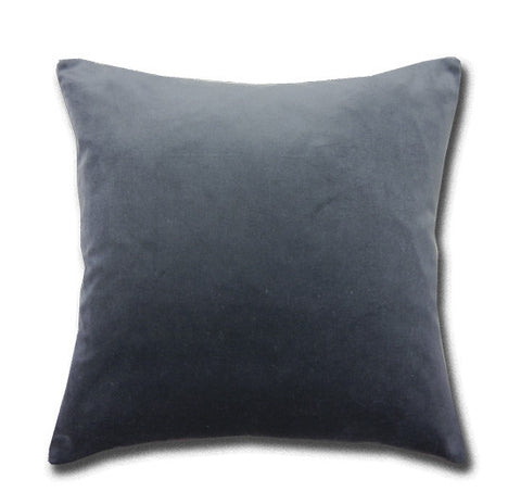 Cotton Velvet Charcoal Cushion (43x43cm)