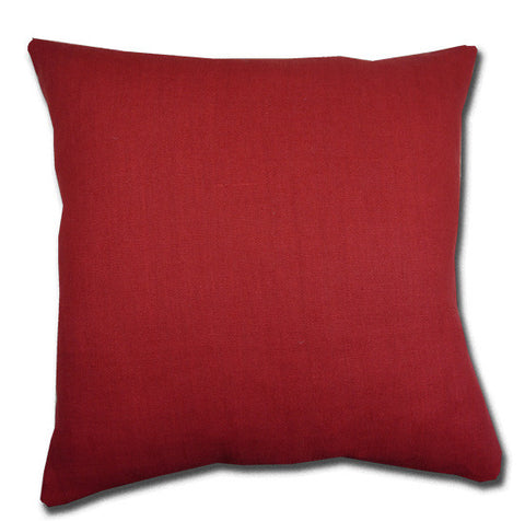 Cardinal Red Linen Cushion
