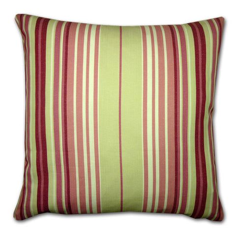 Raspberry Large Striped Cushion (50cm x 50cm)