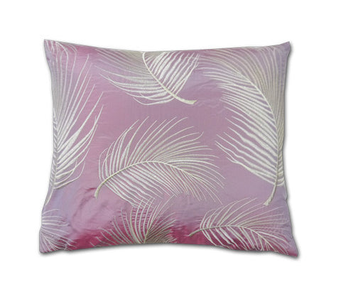 Hanina Ferns Blush Silk Cushion (40x34cm)