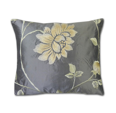 Portobello Sterling Silk Cushion (40x34cm)