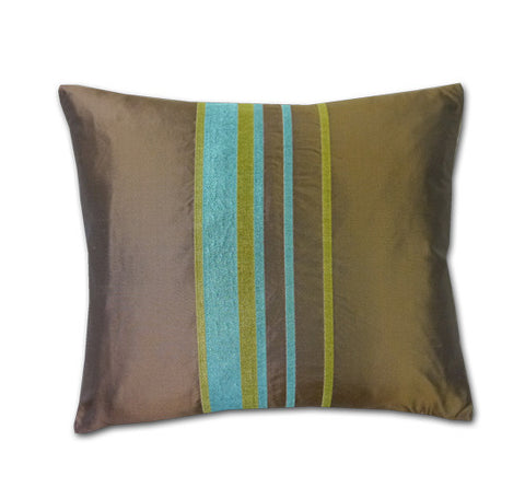 Trellick Chocolate Silk Cushion (40x34cm)