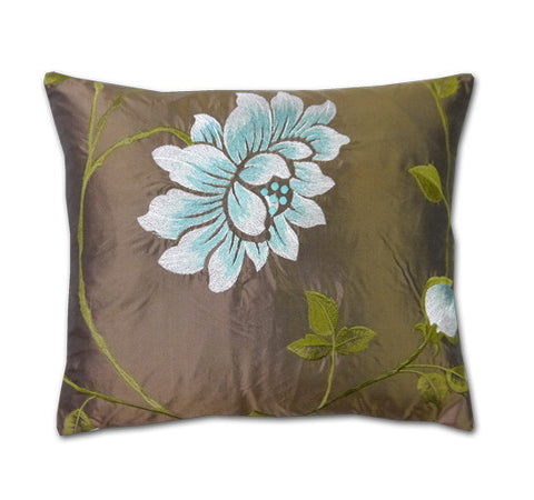 Portobello Chocolate Silk Cushion (40x34cm)
