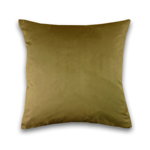 Faux Suede Cushion, Buff (43x43cm)
