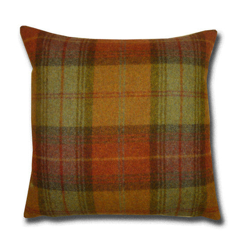 Woodford Plaid Brick & Wine Cushion (42x42cm)