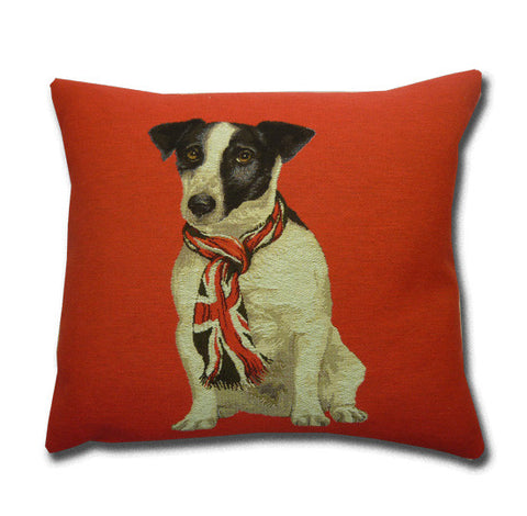 Jack Russell Red Cushion
