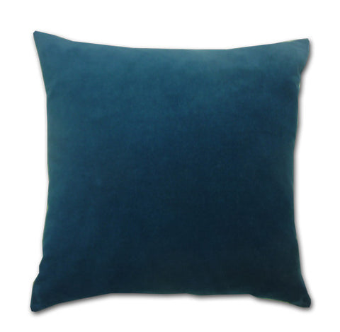Teal Cotton Velvet Cushion (43x43cm)