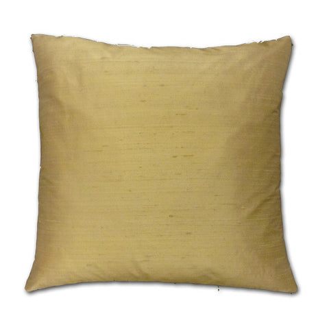 Champagne Cream Silk Doupion Cushion (43x43cm)