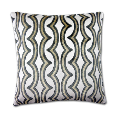 Razzle Caramel / Charcoal Cushion